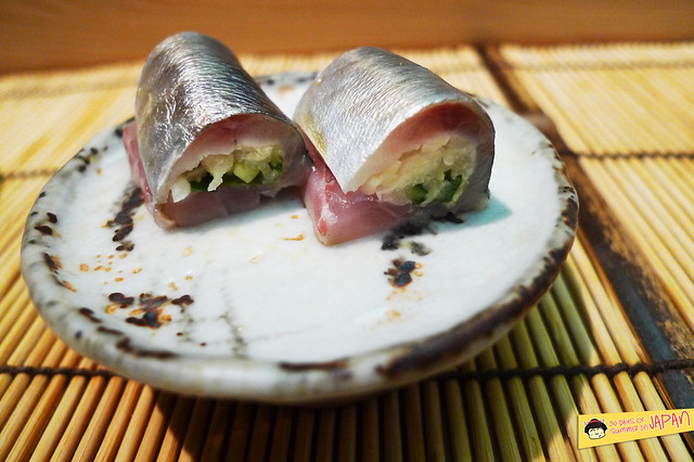 Sushi Sho - Tokyo - Horse mackerel with ginger and shiso leaf