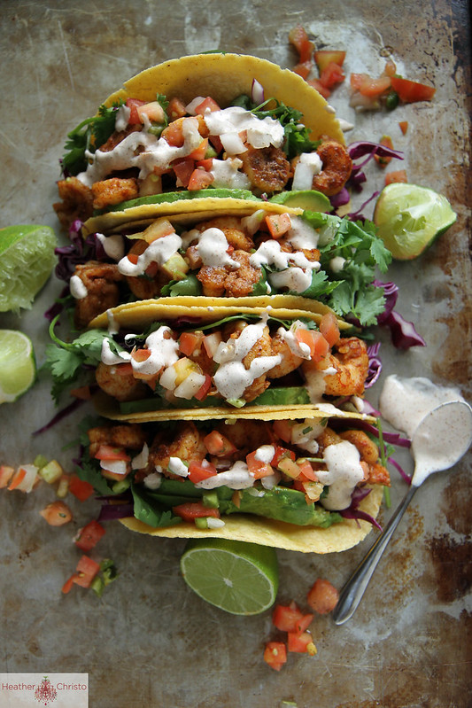Chipotle Shrimp Tacos | Heather Christo