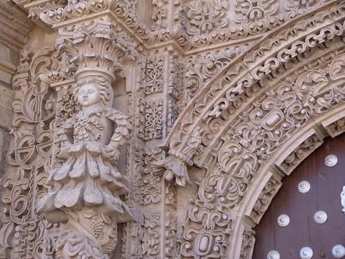 Detalle de la iglesia de San Lorenzo (Potosí, Bolivia)