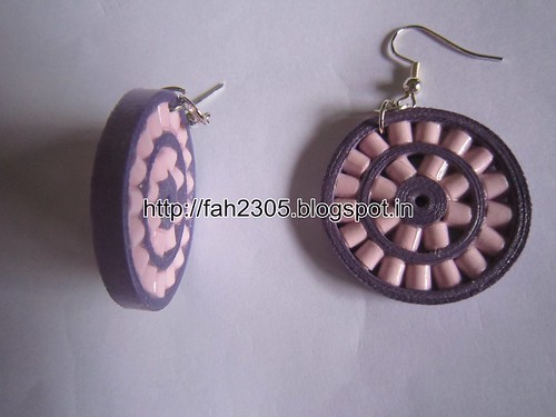 Handmade Jewelry - Paper Quilling Double Wheel Earrings (3) by fah2305