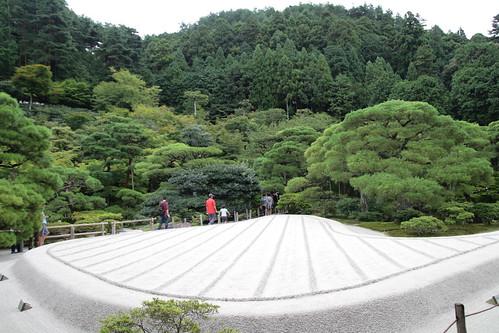 The famous sand garden, Ginshadan