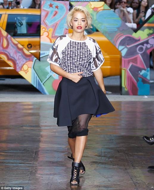 Rita Ora DKNY Graffiti Letters