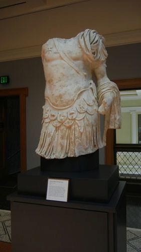 DSCN7497 _ Torso of a Man Wearing Armor, Roman, A.D. 83-85, Getty Villa, July 2013