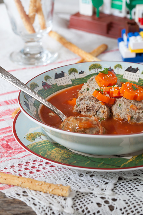 Tomato Soup with Meatballs 3
