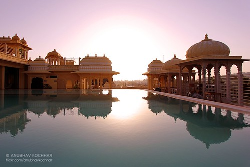new morning travel sun india reflection water pool beautiful architecture swimming sunrise canon wow photography eos early ancient day palace structure canoneos rajasthan udaipur anubhav kochhar 60d flickraward chunda eos60d flickrtravelaward flickrstruereflection1 soloindiantraveller anubhavkochhar airingbyway
