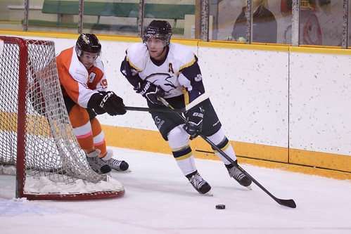 Josh MacDonald stick checking vs TWU (Oct 4, 2013 Snucins)