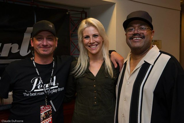 Backstage with Redge and Dennis Chambers at the Pearl Day - September 29th, 2013 - Montreal, QC, Canada