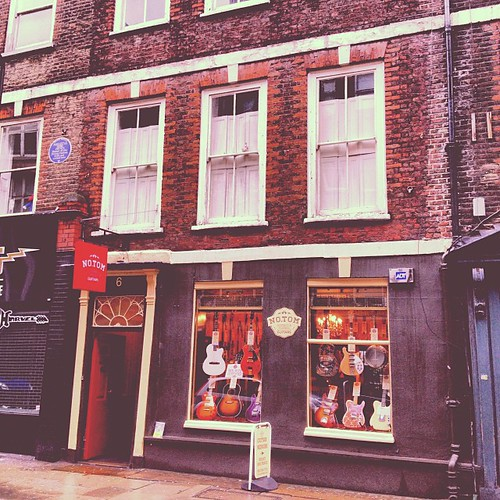 6 Denmark St, home of the Sex Pistols #sexpistols #tinpanalley #denmarkstreet #punk #music #band #london #rock