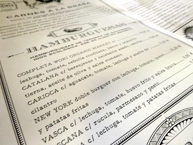 la carta del woki organic market