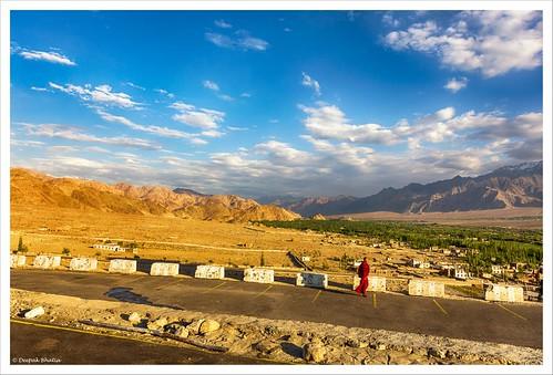 getty monk landscape thiksey monastery leh ladakh jammukashmir dusk sunset mountains hills clouds canon 5dmarkiii milestoneenterprisein milestoneenterprise