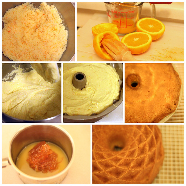 ... orange pound cake with lots of zest and topped with a glaze of orange