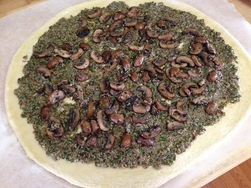 fontina mushroom pizza3