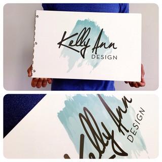 Custom graphic design portfolio book with printed decal treatment