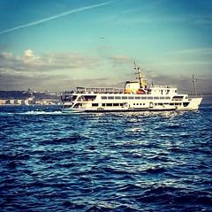 #istanbul #turkey #sea #mavi #türkiye #blue #deniz #vapur #boat #sky #gökyüzü #bosphorus #boğaz