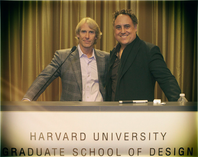 Michael Bay and Architect Chad Oppenheim at Harvard Graduate School Of Design