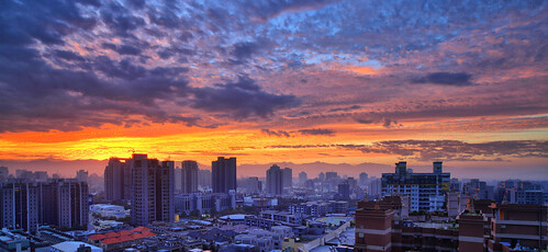 sunrise canon landscape taiwan getty taichung 台灣 hy gettyimages bai 台中 日出 南屯 火燒雲 風景攝影 nantun fave50 hybai