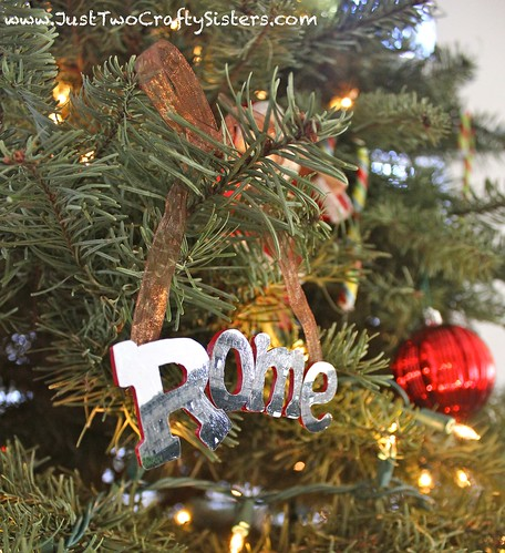 DIY christmas ornament made from a photo