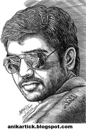 how to draw actor vijay step by step