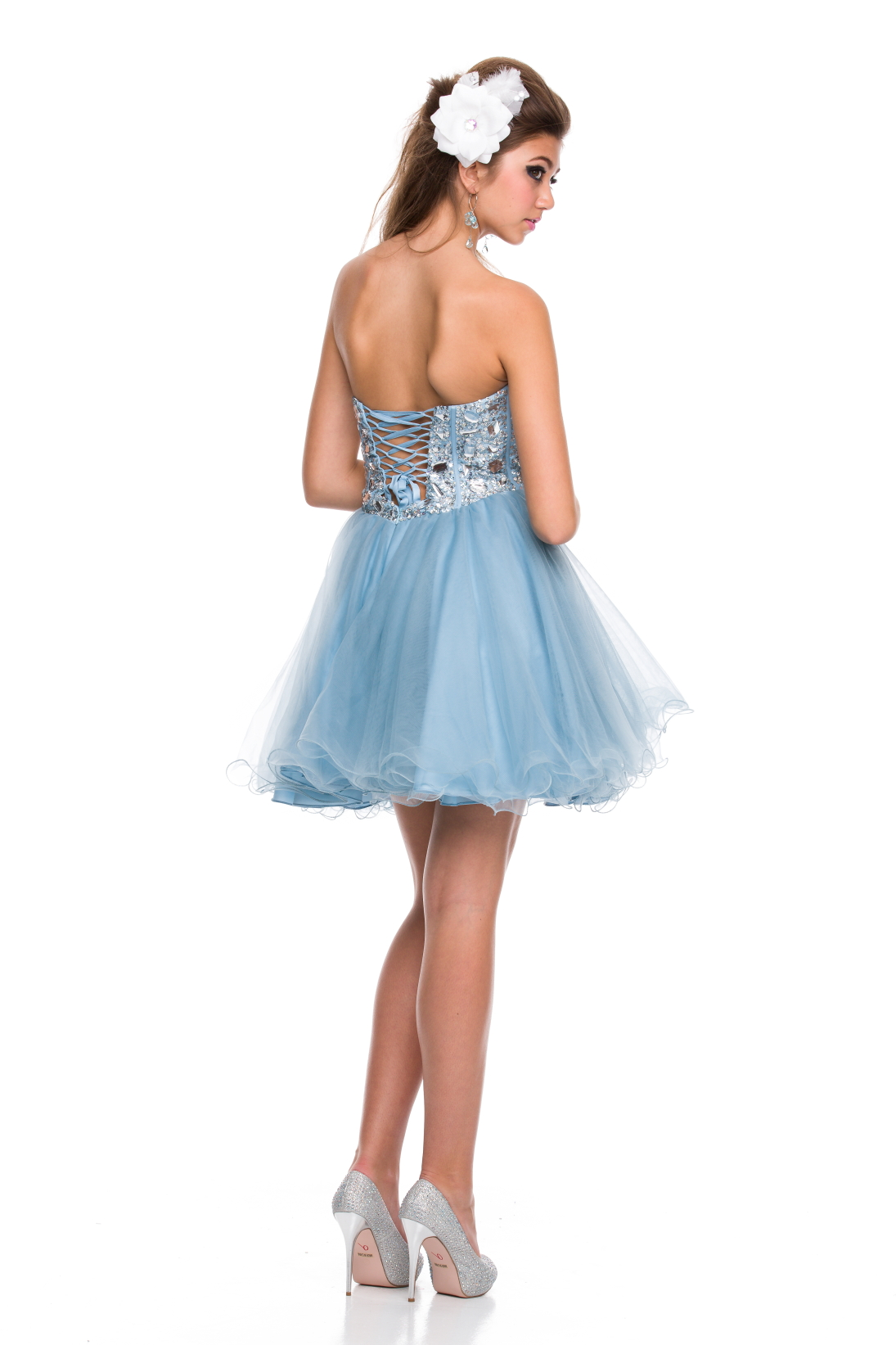hot corset chiffon tutu skirt sweet 16 birthday prom