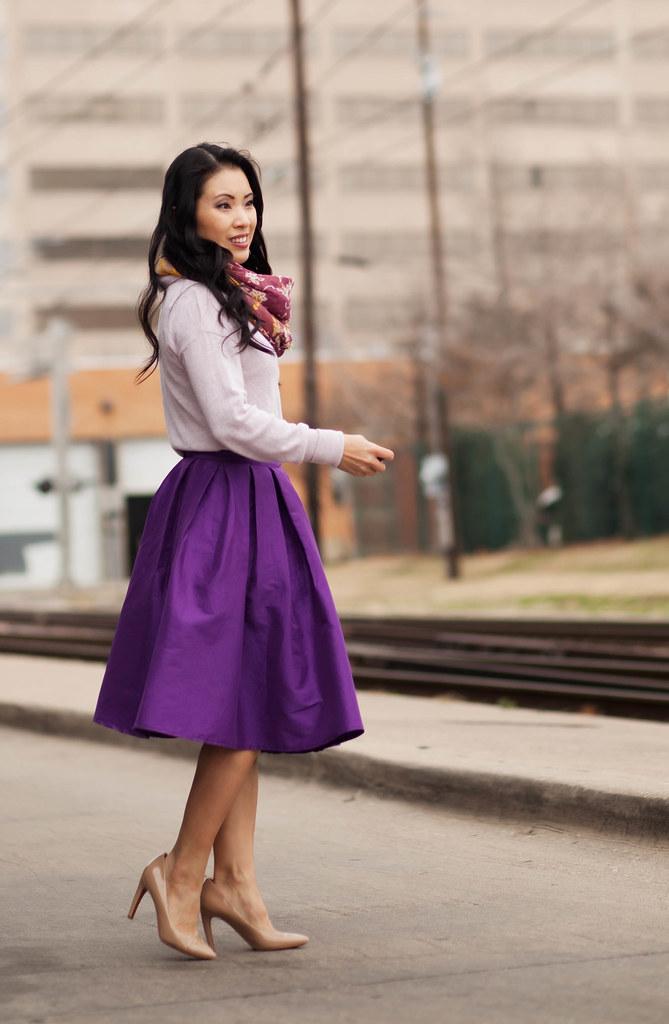 Purple Midi Skirt