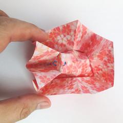 สอนวิธีการพับกระดาษเป็นดอกมะเฟือง (Origami Carambola) 023