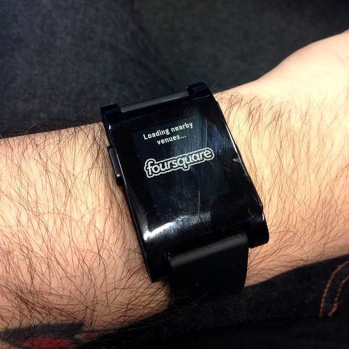 using foursquare on a pebble