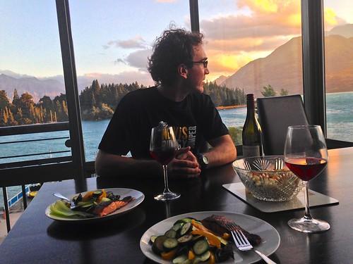 Home made birthday dinner in Queenstown New Zealand