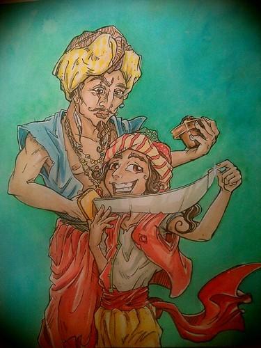 Harun e a encomenda do guerreiro. by zulula3