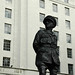 Statue of First Viscount Alan Brooke against ministry of defence building Whitehall London