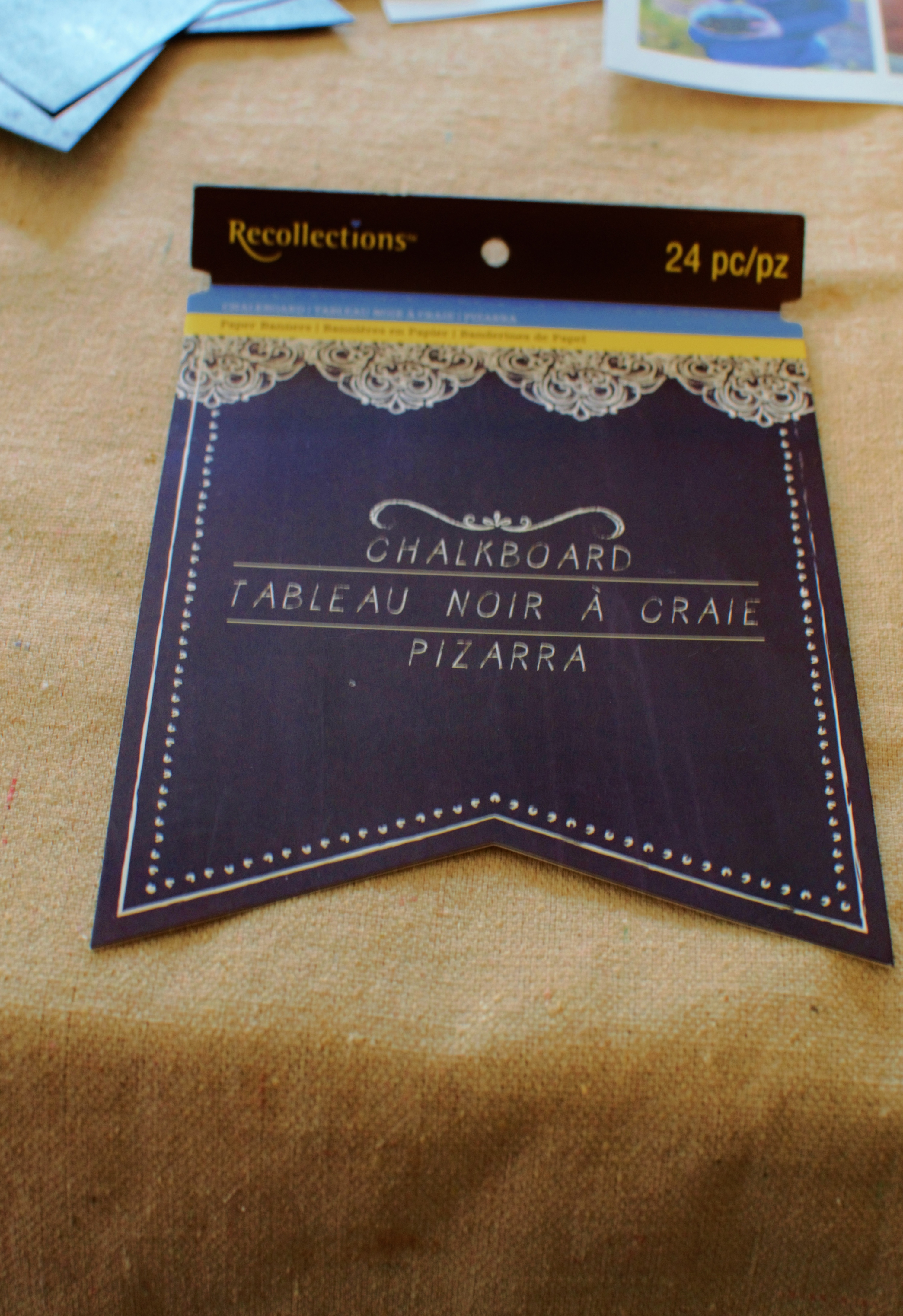 reusable photo album made with recollections brand chalkboard paper