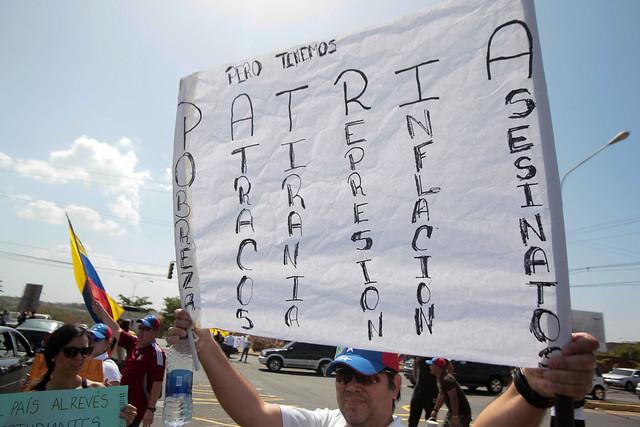 La protesta en Guayana