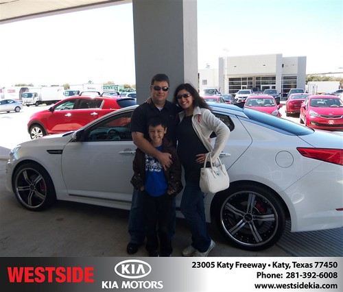 Happy Anniversary to Michael E Alberter on your 2013 #Kia #Optima from Suliveras Wilfredo and everyone at Westside Kia! #Anniversary by Westside KIA