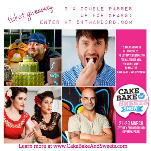 Ticket Giveaway to Cake Bake and Sweets Show Sydney: 2 x double passes up for grabs!