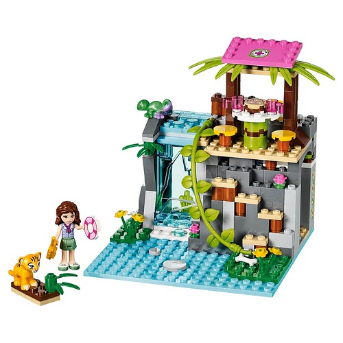 LEGO Friends Jungle Falls Rescue #41033 the falls build