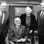 Sir Louis Matheson at renaming of Library