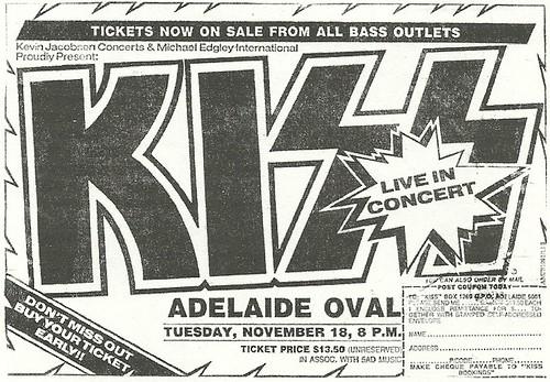 11/18/80 Kiss/ Eyes @ Adelaide Oval, Adelaide, Australia