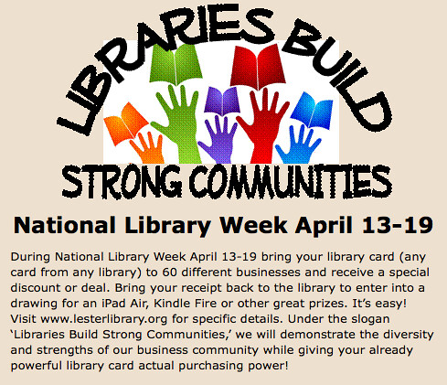 Celebrate National Library Week in Two Rivers