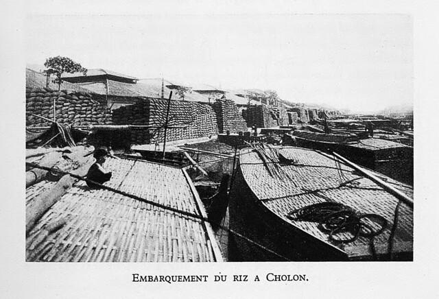 1931  Embarquement du riz à Cholon - Vận chuyển gạo tại Cholon