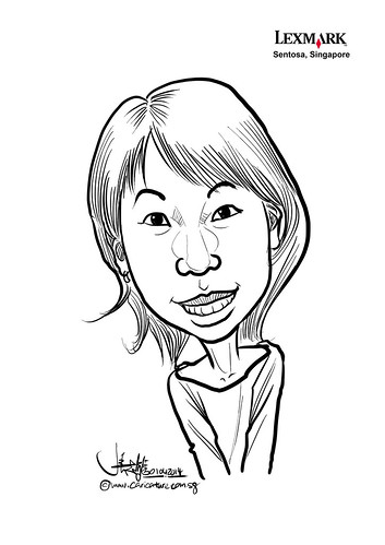 digital caricature for Lexmark - Belinda Tan