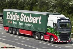 Volvo FH 6x2 Tractor with 3 Axle Curtainside Trailer - KM63 HZL - H4956 - Morwenna Katarina - Eddie Stobart - M1 J10 Luton - Steven Gray - IMG_9380