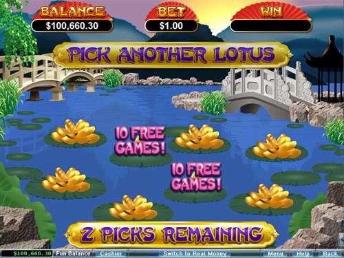 free Golden Lotus bonus game