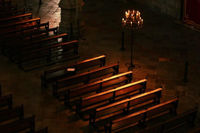 benches church of santa maria