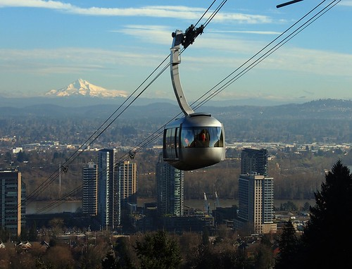 city winter mountain oregon river portland view northwest cascades mthood cablecar hood gondola pdx pnw willamette cascadia ohsu southwaterfront aerialtram