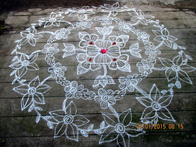 Freehand Rangoli Design