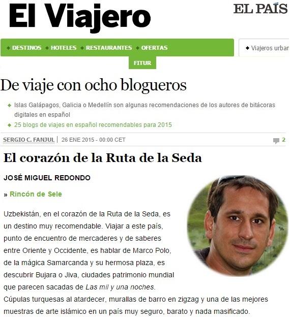 Recomendaciones para viajar en 2015 en El Viajero de El País