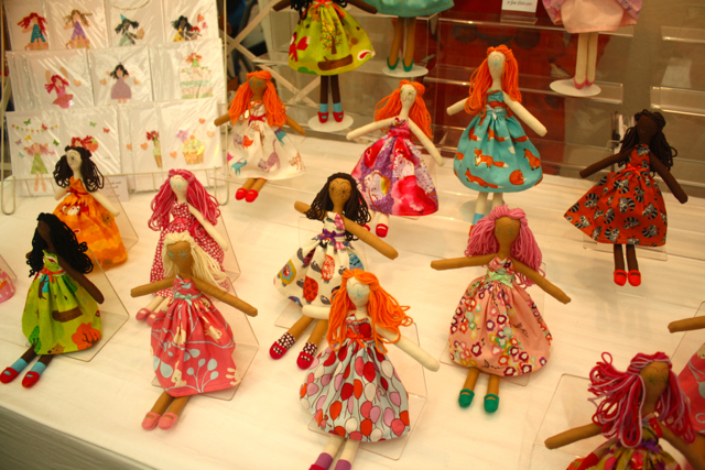 Handmade dolls at the Greenwich Market, Greenwich