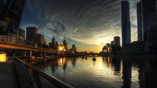 sunrise australia melbourne victoria yarra hdr