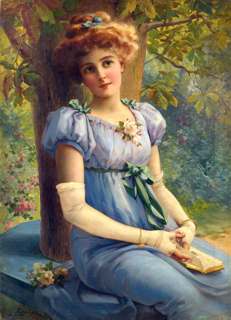 A Sweet Glance by Emile Vernon - Date unknown