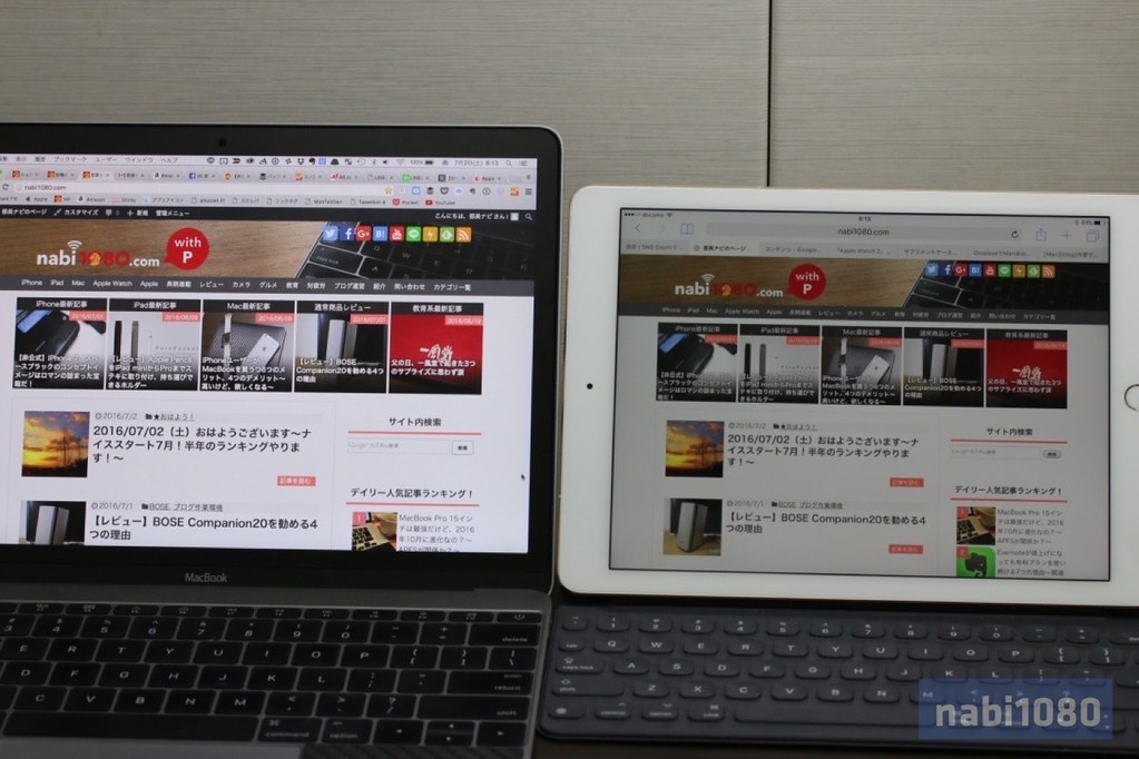 MacBook 12 iPad Pro 9.706