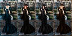 Dragoun Queen Gowns 4 Colors